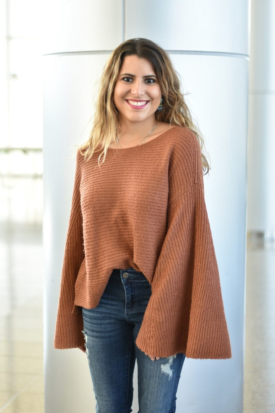 Sweaters with Dramatic Sleeves
