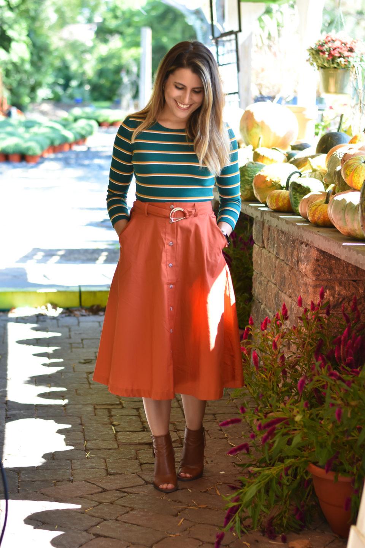 Midi Skirt for the Fall